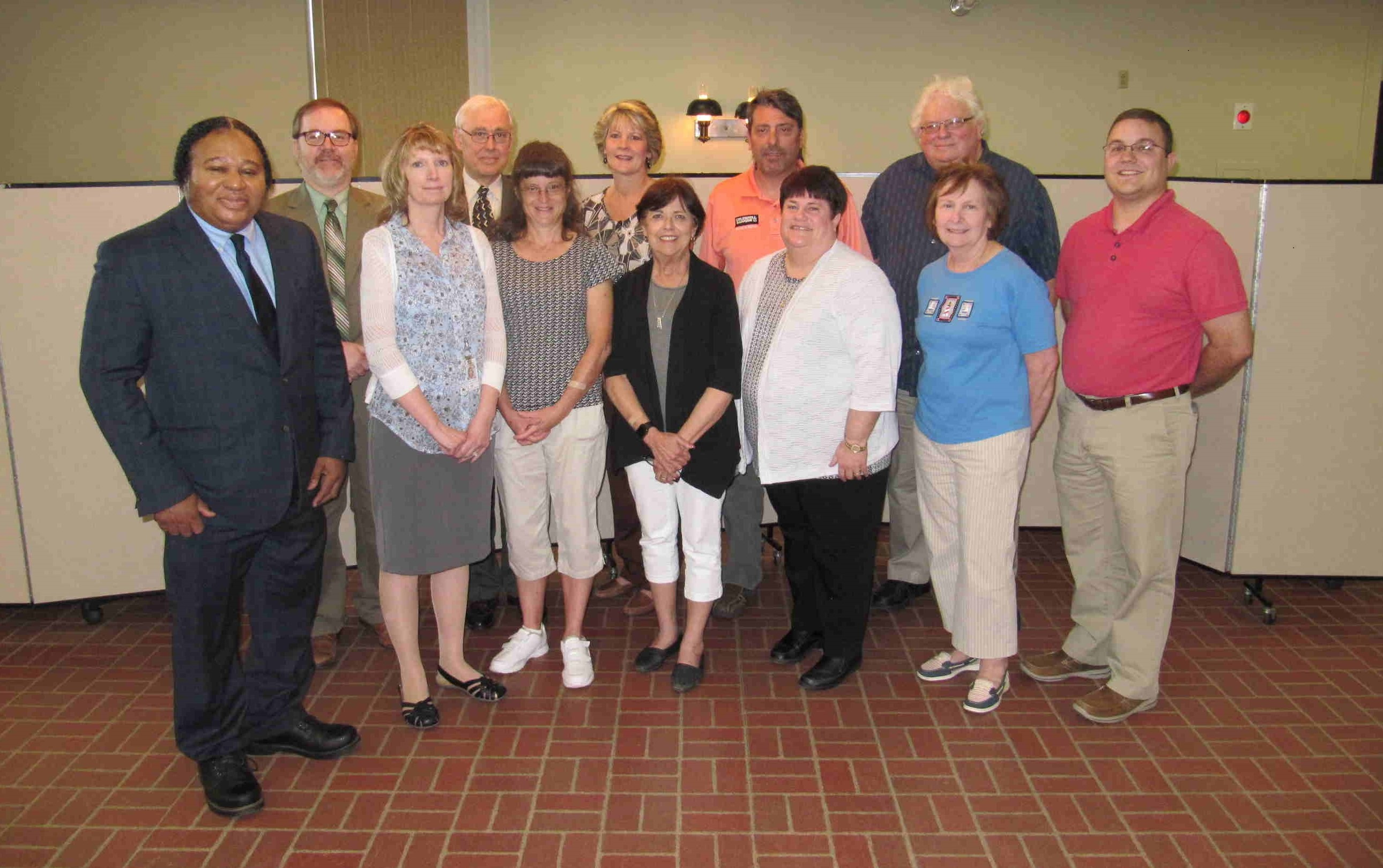 Back Row: Commissioner Wayne Brosius; Richard Fetterman (President); Lori Brown; Lee Stewart (Treasurer); Ron Wilshire (Vice President) Front Row: Granville Carter; Rebecca Mitchell; Renee Vowinckel; Robin Lutz (representing Senator Scott Hutchinson; Pam Johnson (Assistant Secretary); Deborah Shook; Zachery Zankey (representing Representative Cris Dush). Missing: Representative Donna Oberlander; Clara Belloit; Melva McGranor; Mayor Rich Beck; Commissioner Jack Matson; Amy Ortz