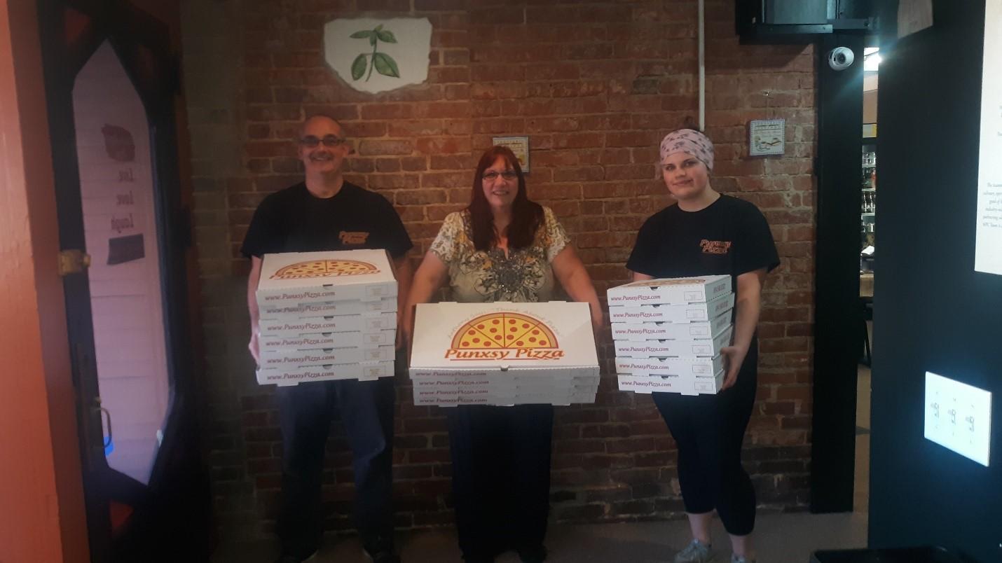shelter pizza donation